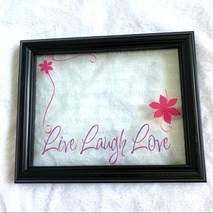 New View Live Laugh Love Black Picture Frame 5x7